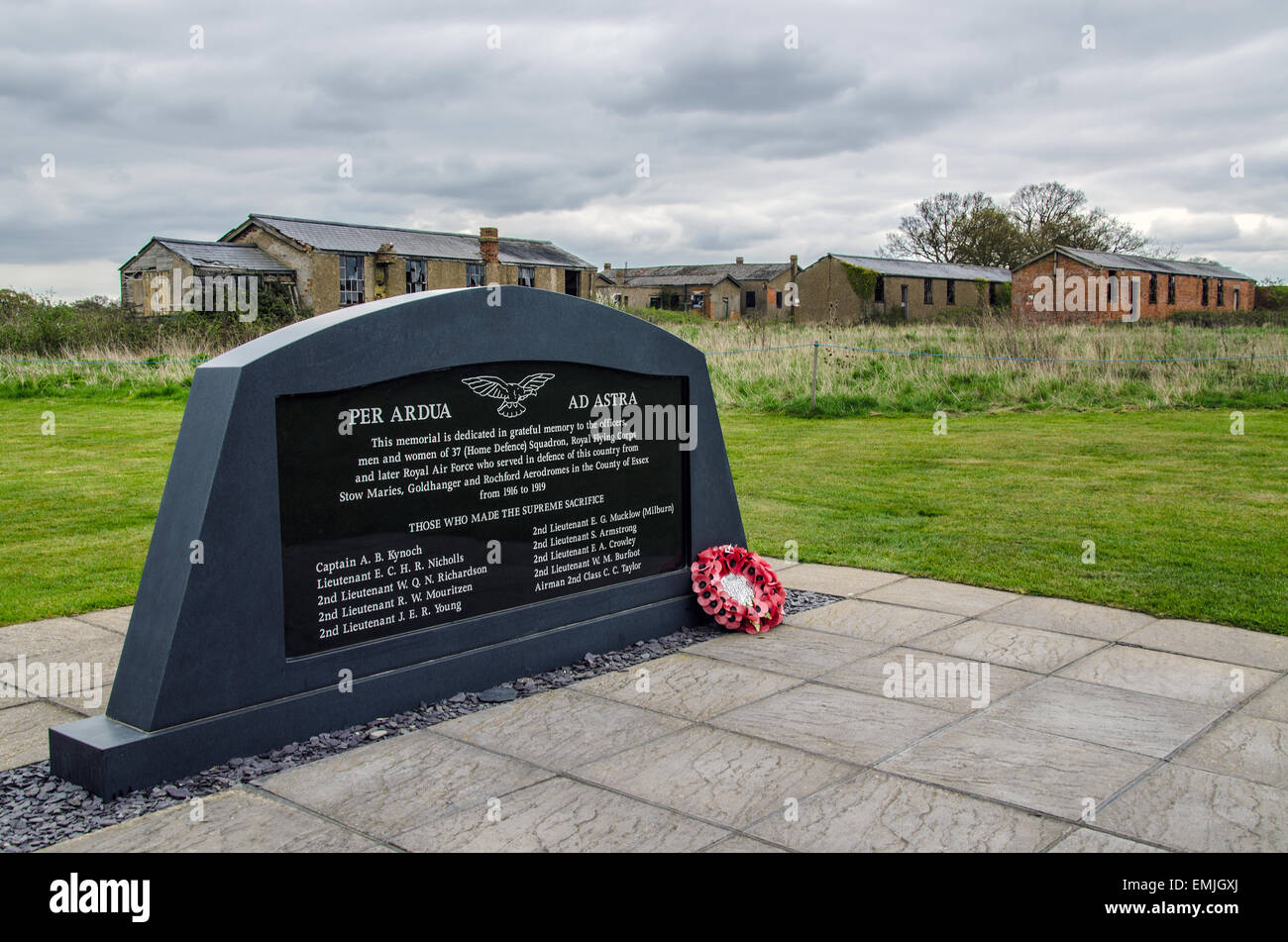Stow Maries Aerodrome was built in 1916 to defend the approach to London, the RAF left in 1919 and the site has - Stock Image