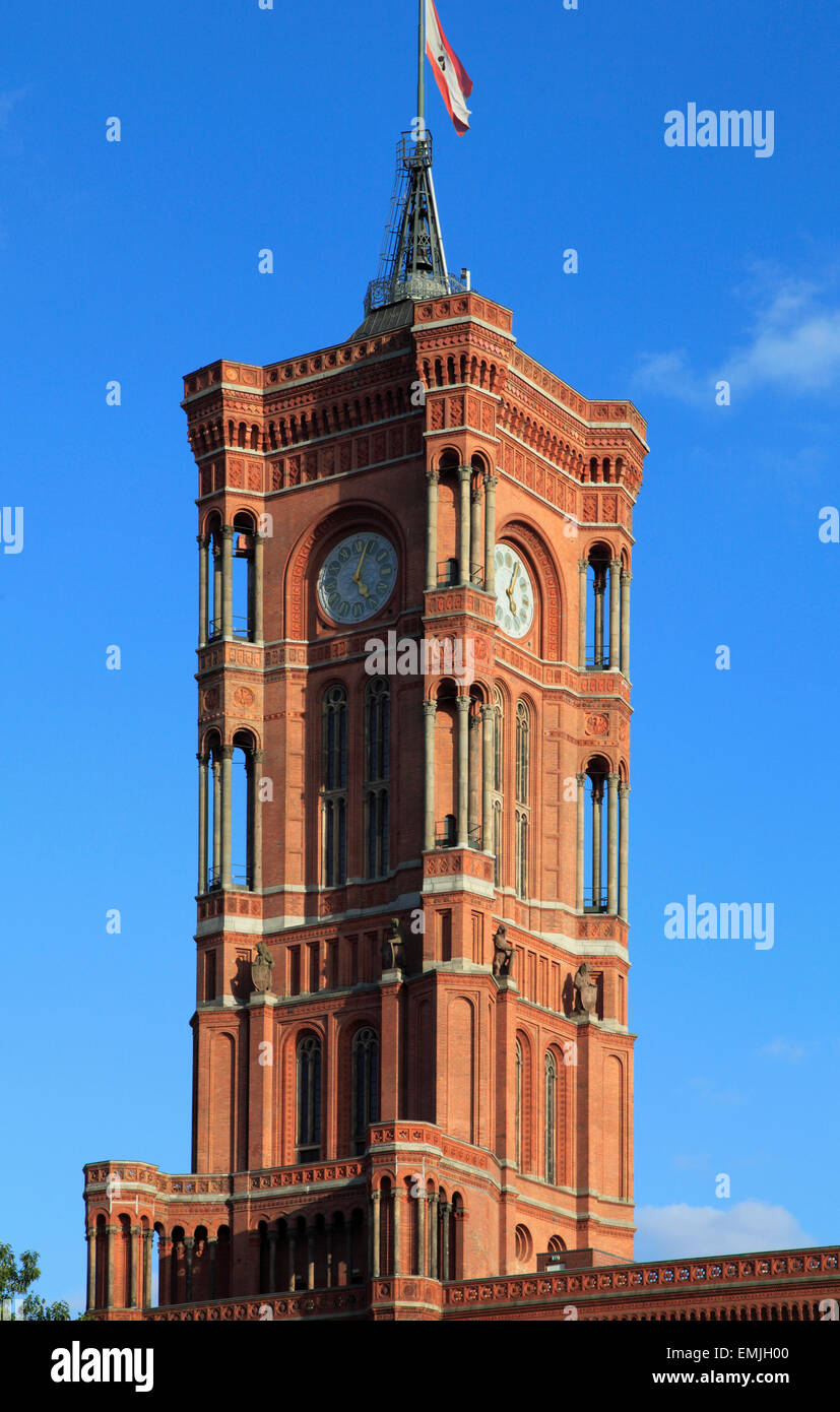 Germany, Berlin, Town Hall, Rotes Rathaus, - Stock Image