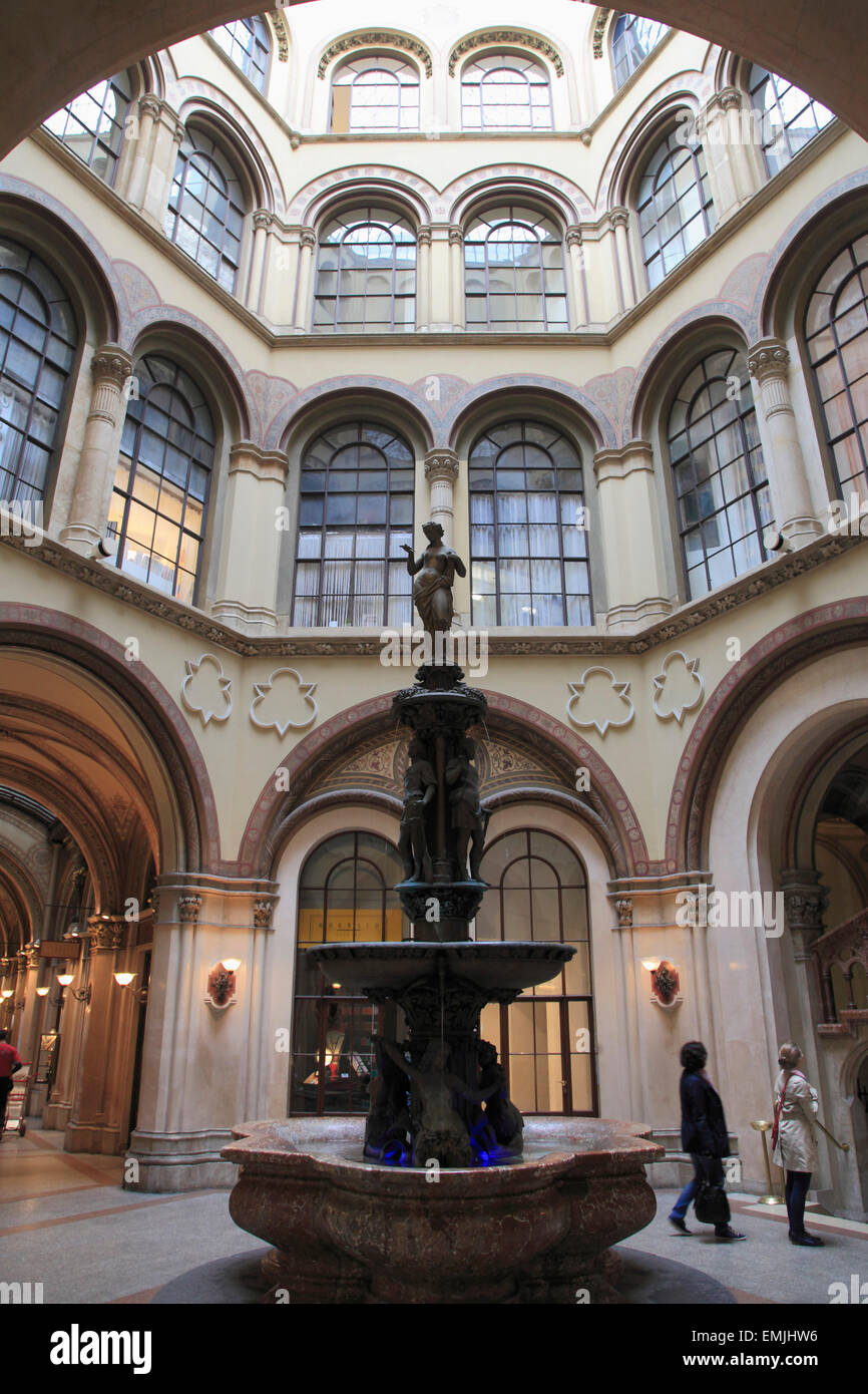 Austria, Vienna, Ferstel Passage, interior, architecture, - Stock Image
