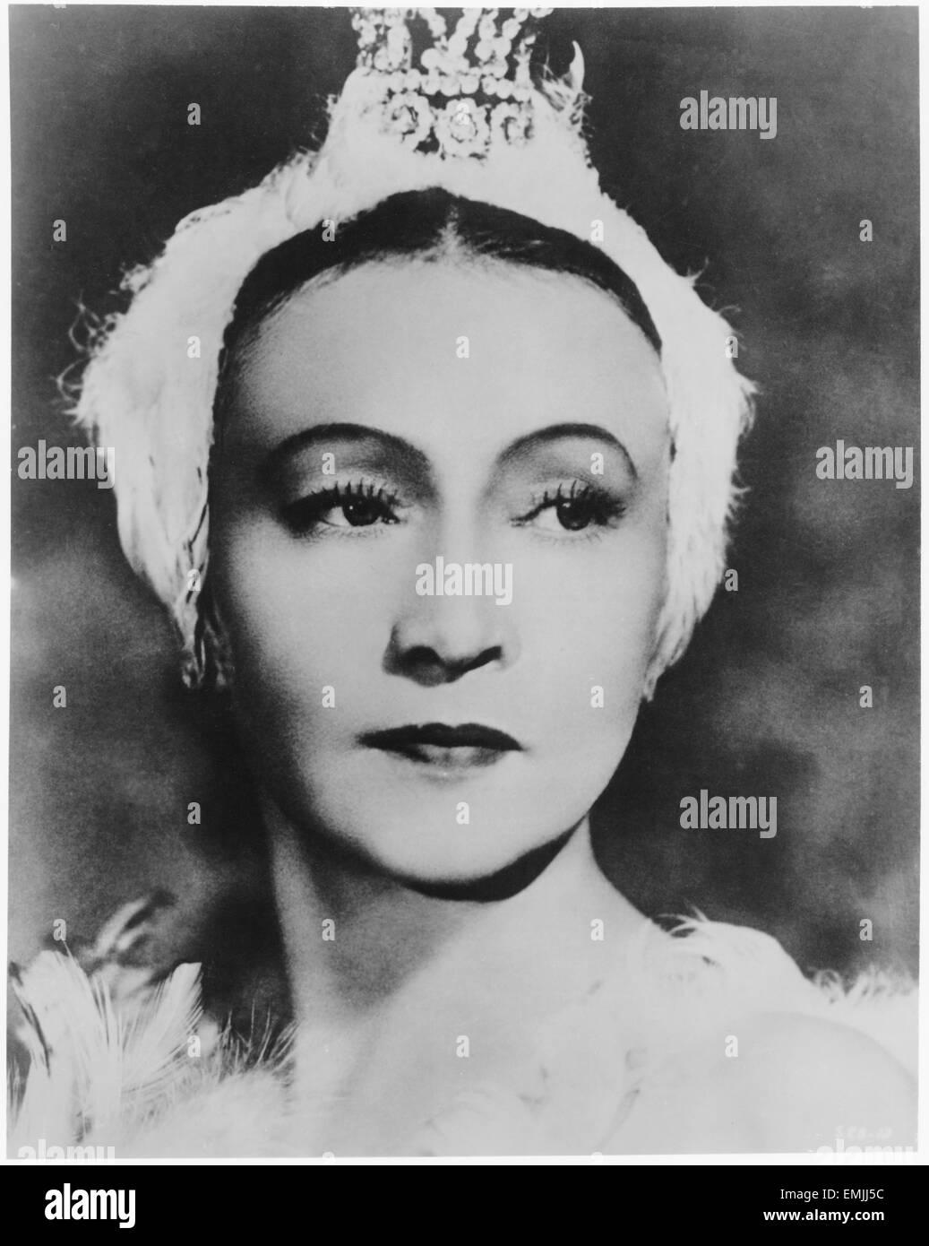 Maya Plisetskaya, Russian Ballerina, Portrait, circa 1960's - Stock Image