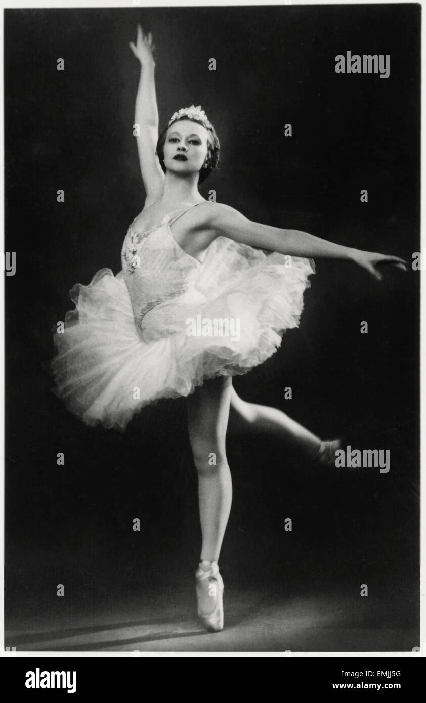 Galina Ulanova, Russian Ballet Dancer, Portrait, circa 1940's - Stock Image