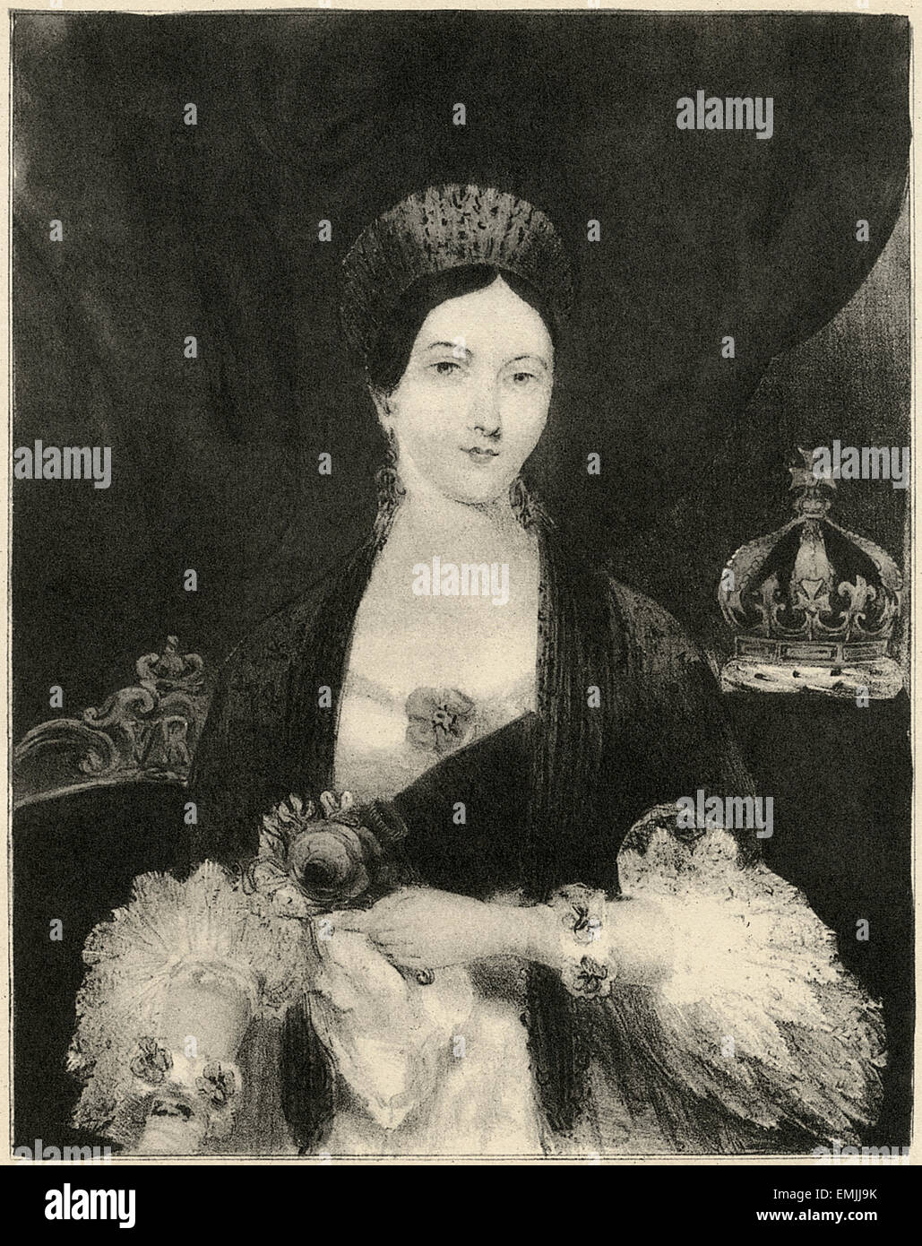 Queen Victoria, Nathaniel Currier, circa 1850's - Stock Image