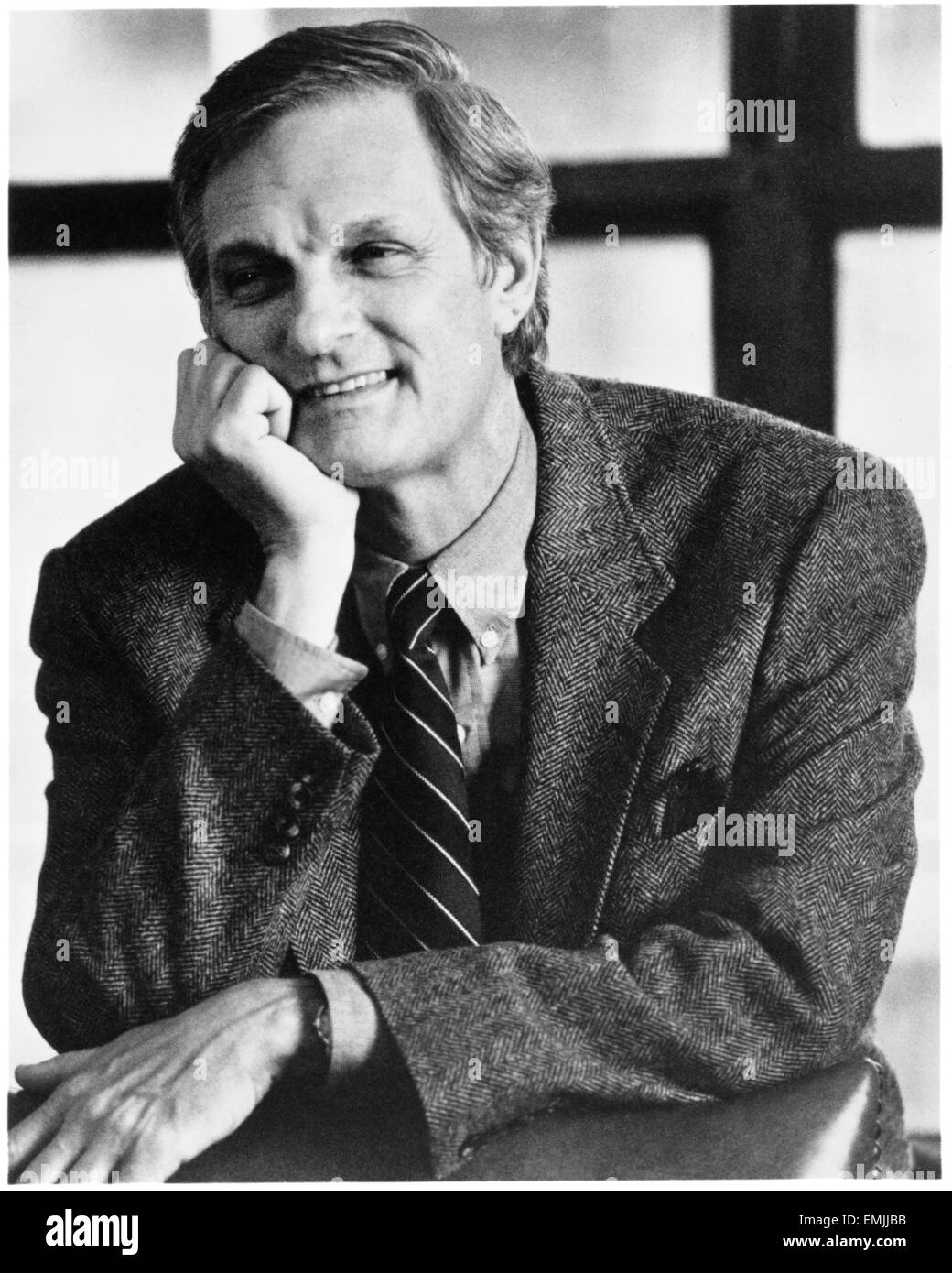 "Alan Alda, on-set of the Film ""Whispers in the Dark"", 1992 - Stock Image"