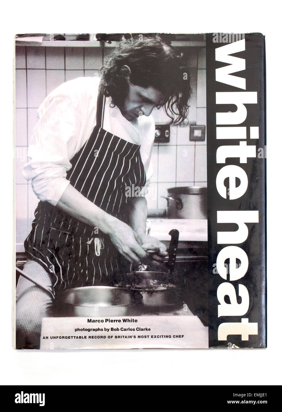 White Heat Cookery Book by Marco Pierre White and Bob Carlos Clarke - Stock Image