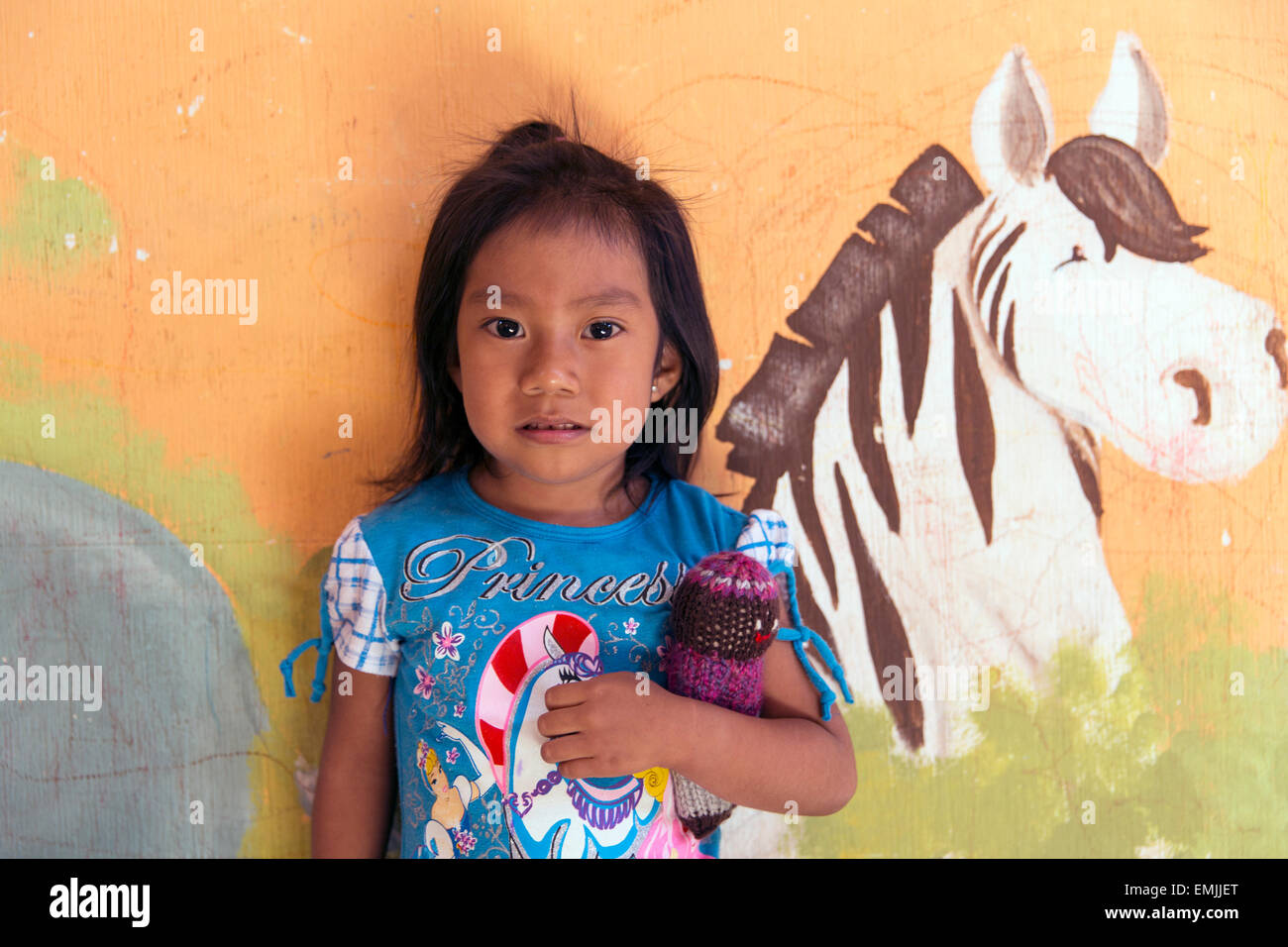 Guatemala, portrait of a child in a nutrition center recovering from malnutrition - Stock Image
