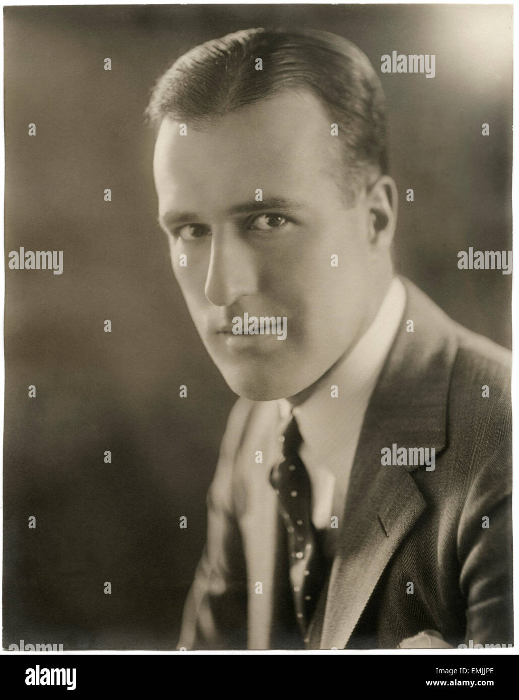 Actor Nigel Barrie, Publicity Portrait, circa 1925 - Stock Image