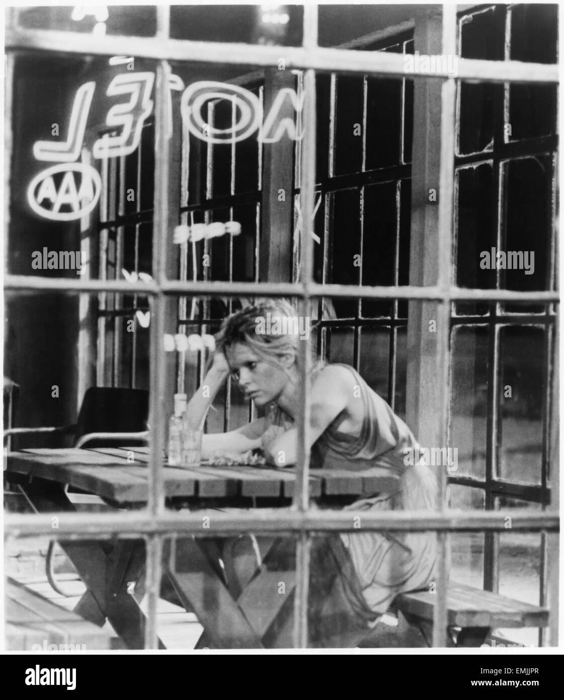 "Kim Basinger, on-set of the Film 'Fool For Love"", 1985 - Stock Image"