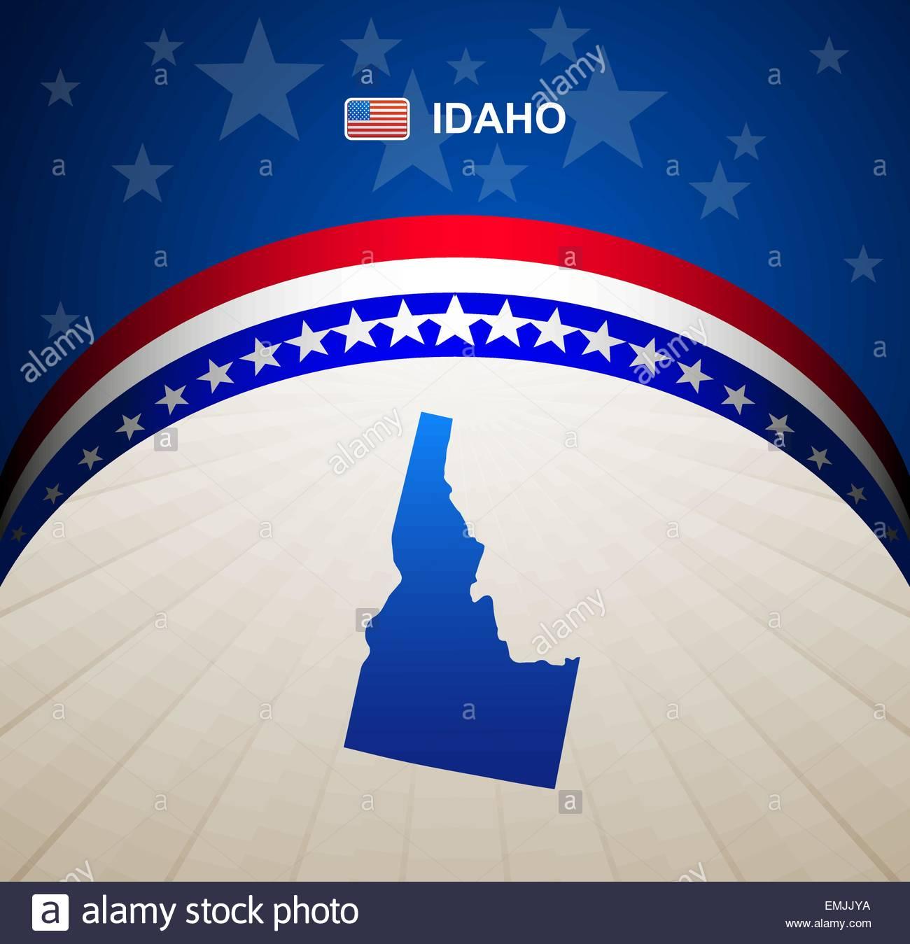 Idaho map vector background - Stock Vector
