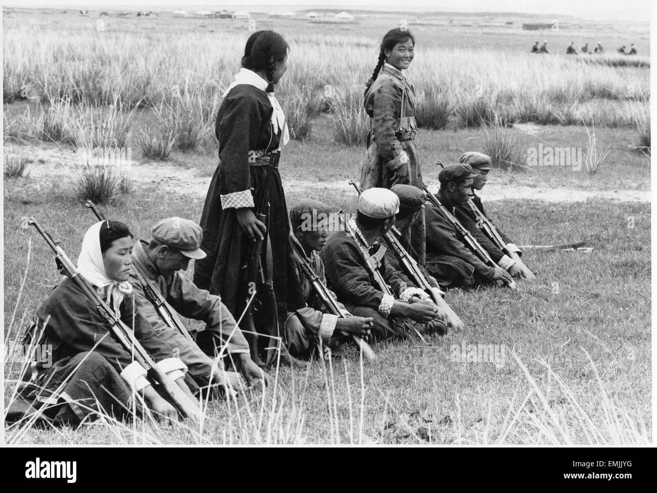 """""""Militia Team in Shilingala Inner Mongolia"""", Film Still, from the Documentary Film 'Report from China', - Stock Image"""