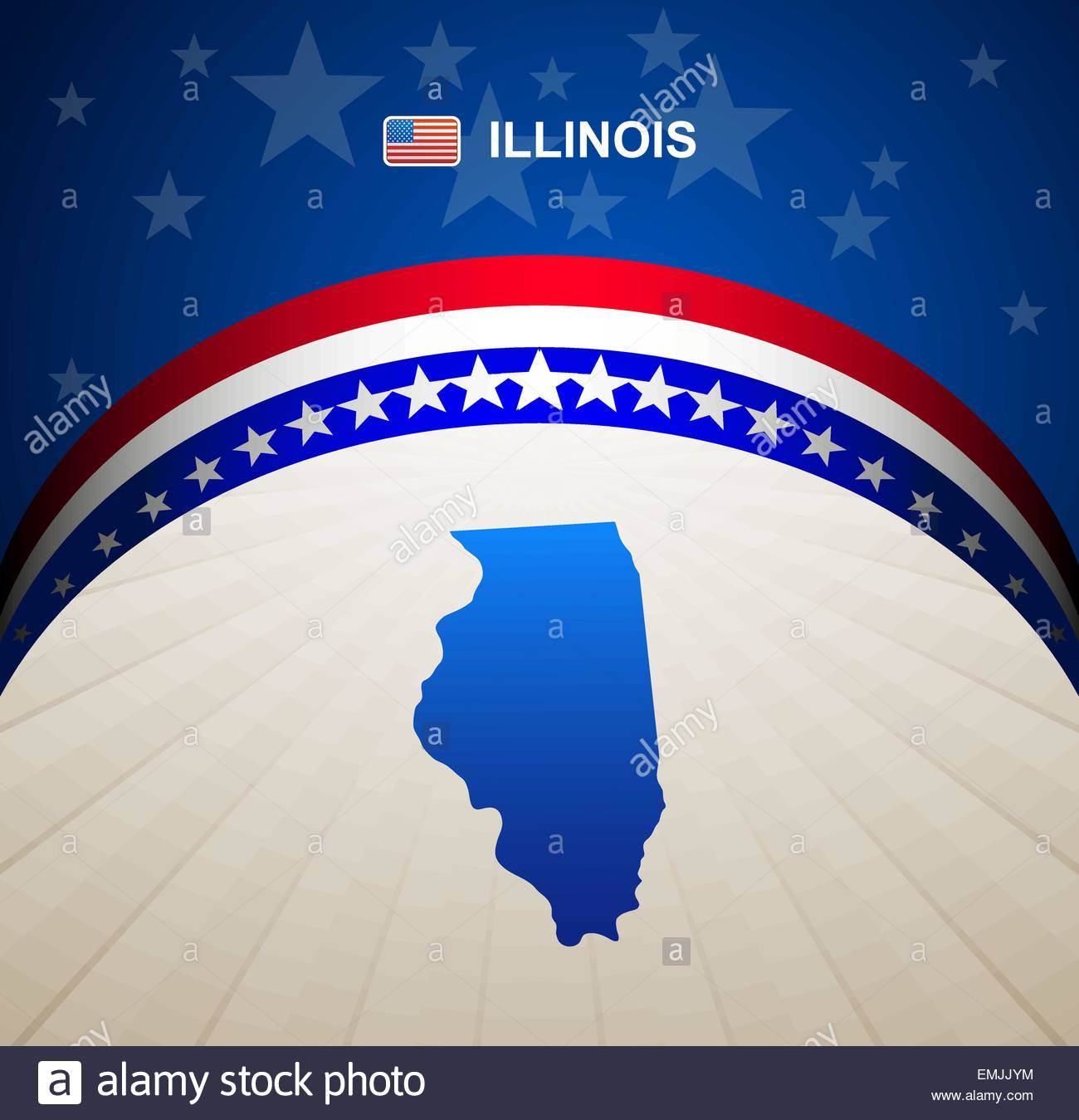 Illinois map vector background - Stock Vector