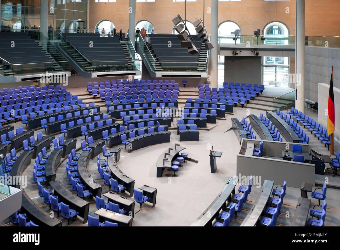 Inside Bundestag German Parliament Berlin Germany Europe - Stock Image