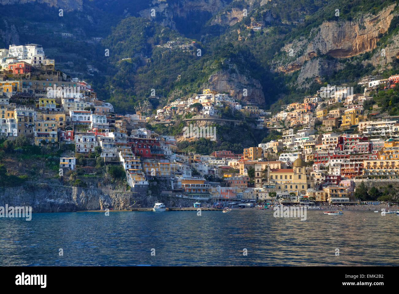Positano, Coast of Amalfi, Salerno, Campania, Italy Stock Photo