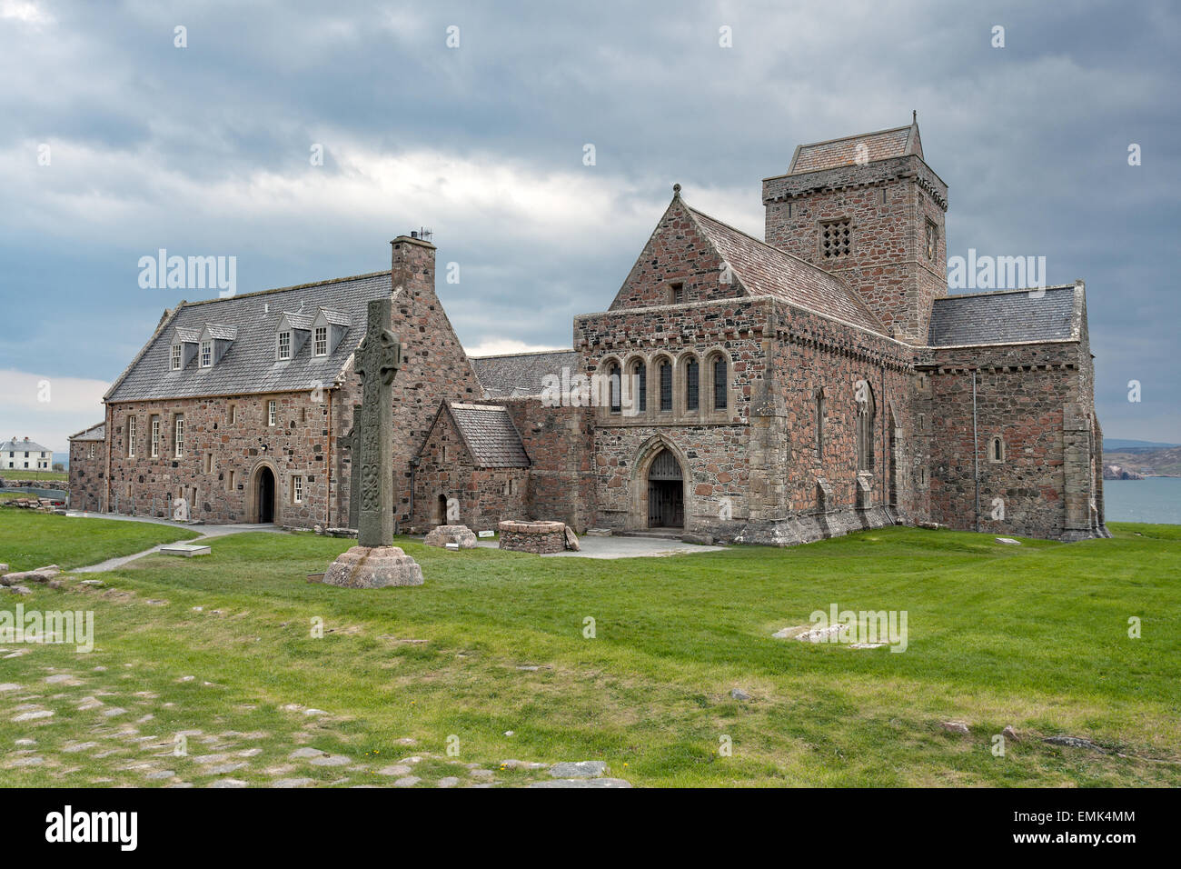 Iona abbey, Inner Hebrides, Scotland - Stock Image