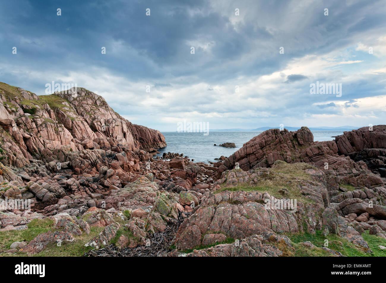 Rocky coast of Mull, Inner Hebrides, Scotland - Stock Image