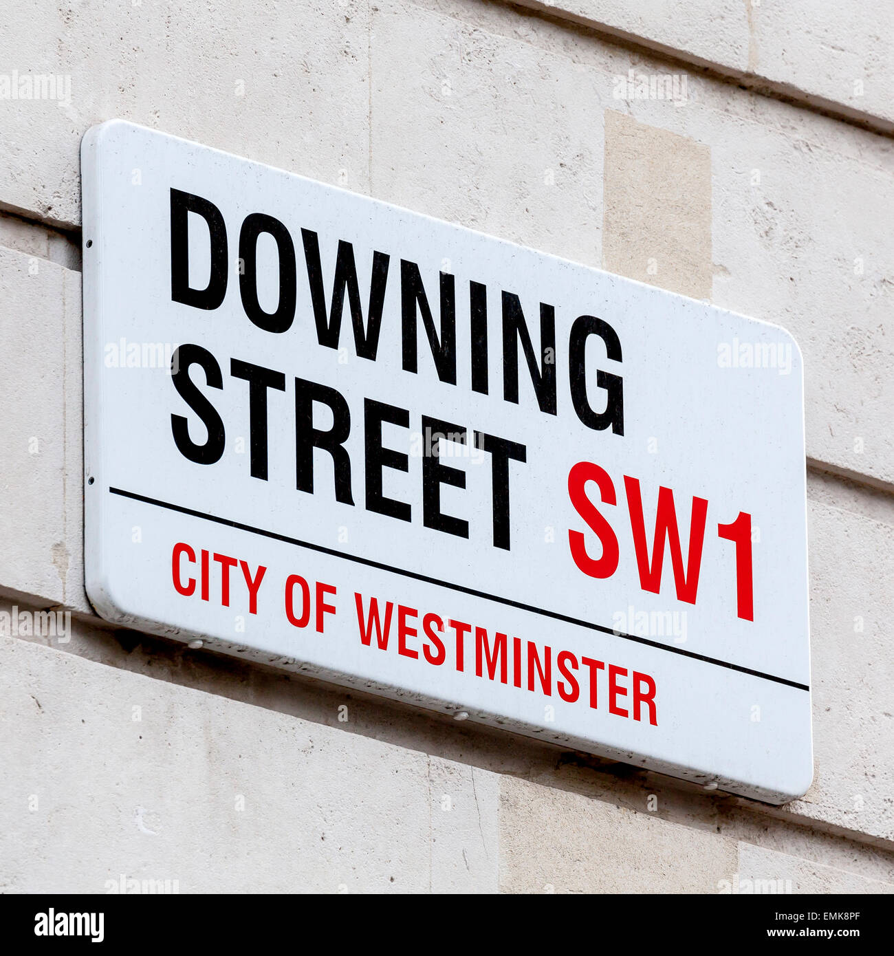 Street sign Downing Street, Government District, London, England, United Kingdom - Stock Image