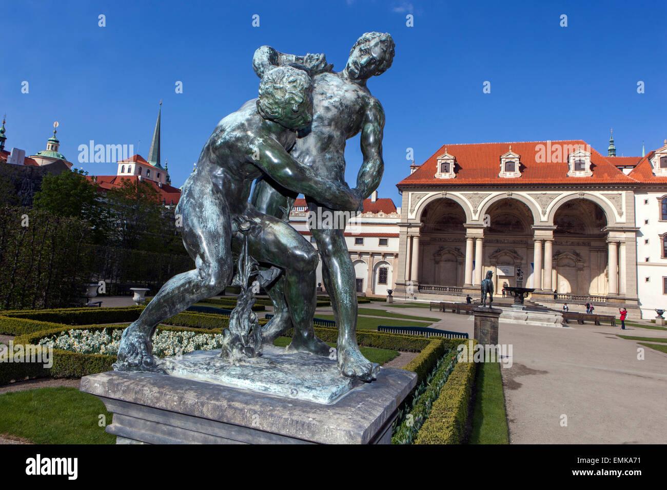 Wallenstein Palace garden with statues of Adrian de Vries, Prague ...