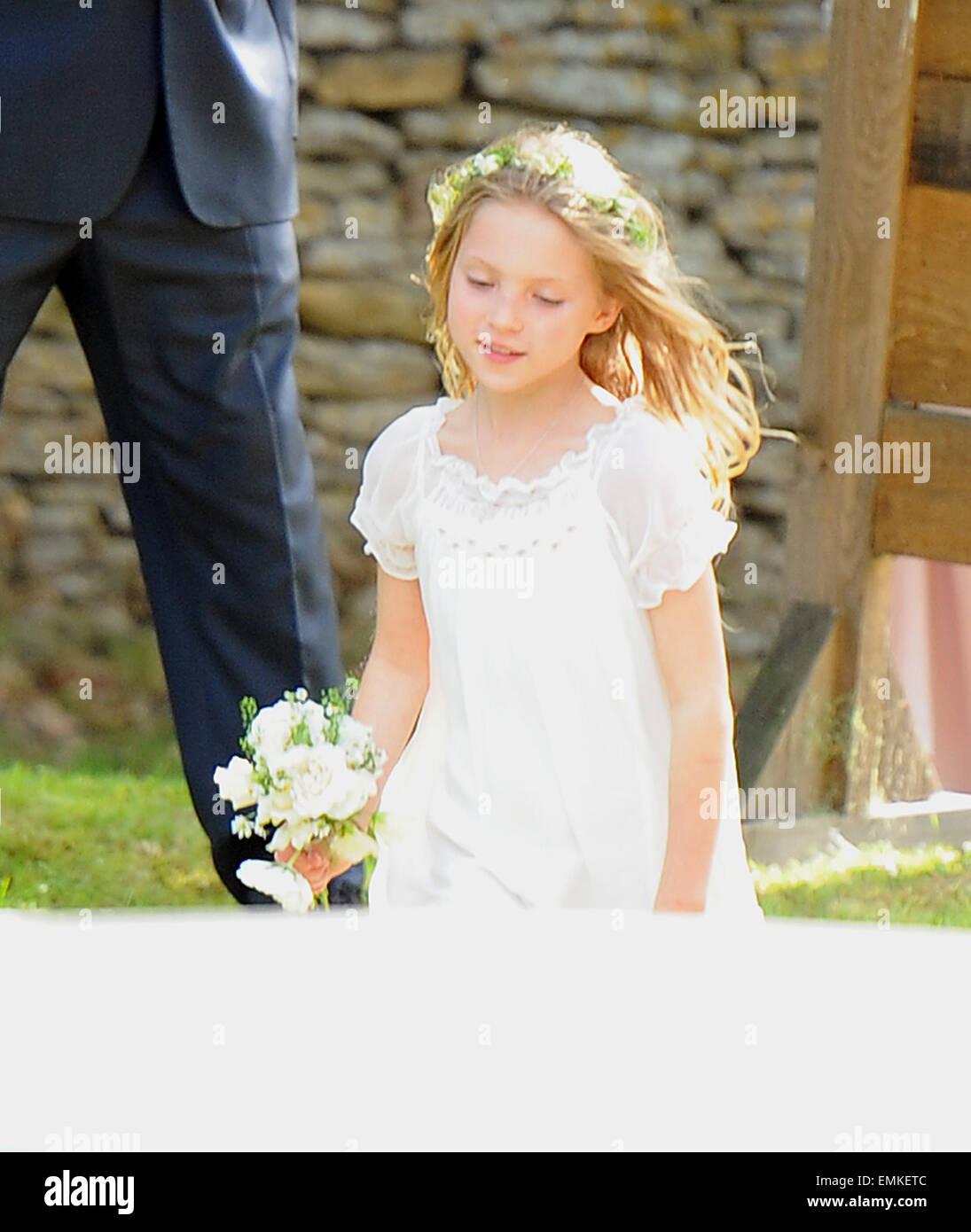 01.JULY.2011. SOUTHROP  LILA GRACE MOSS AT THE KATE MOSS AND JAMIE HINCE WEDDING CEREMONY HELD AT SOUTHROP VILLAGE - Stock Image