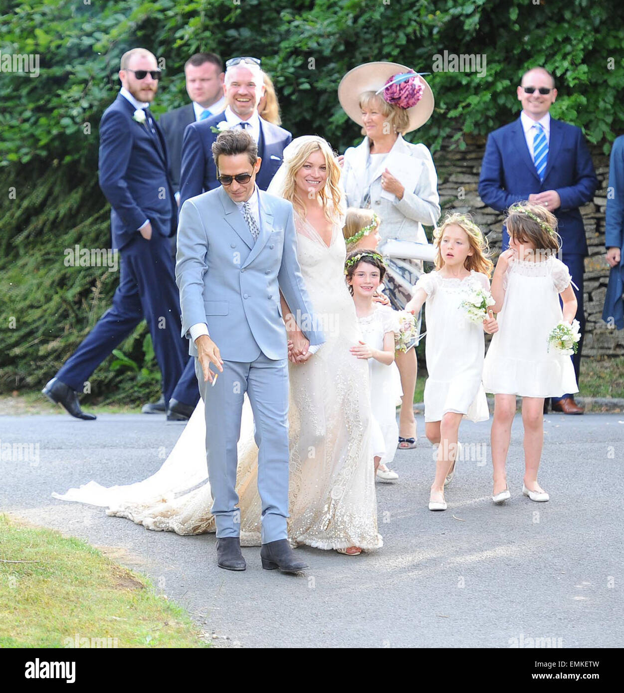 The marriage ceremony of Kate Moss was held in the small old church of St. Margaret 07/02/2011 48