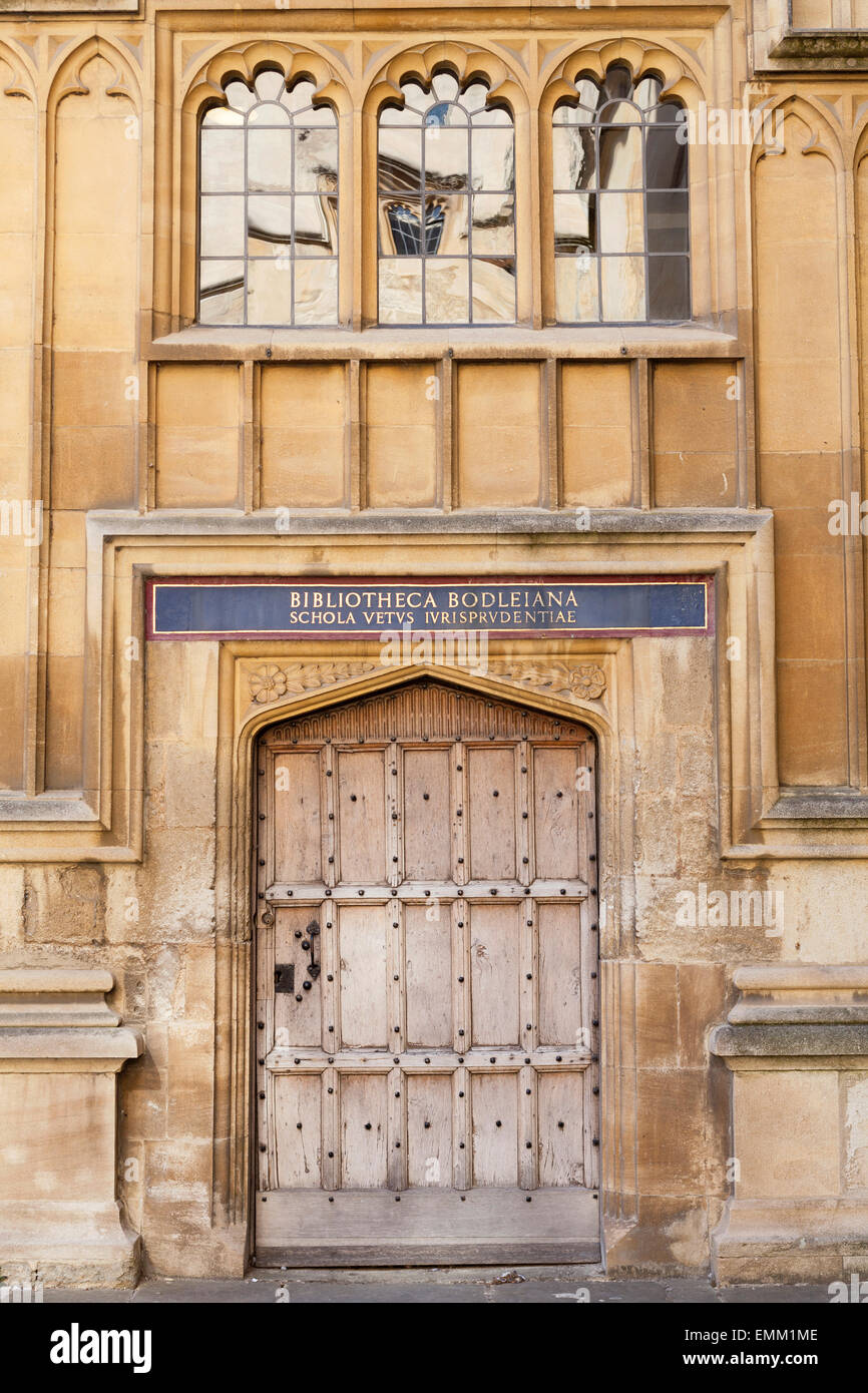 Door in Old Schools Quadrangle, [Bodleian Library], [Oxford University], Oxford, Oxfordshire, England, UK - Stock Image