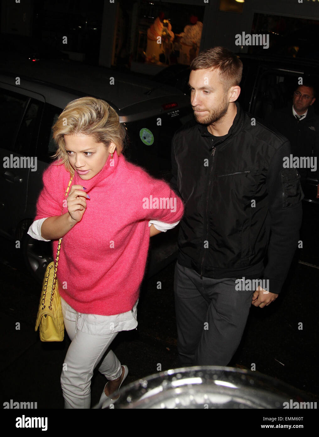 13.MAY.2013. LONDON  RITA ORA AND CALVIN HARRIS AT THE ELECTRIC CINEMA IN NOTTING HILL. - Stock Image