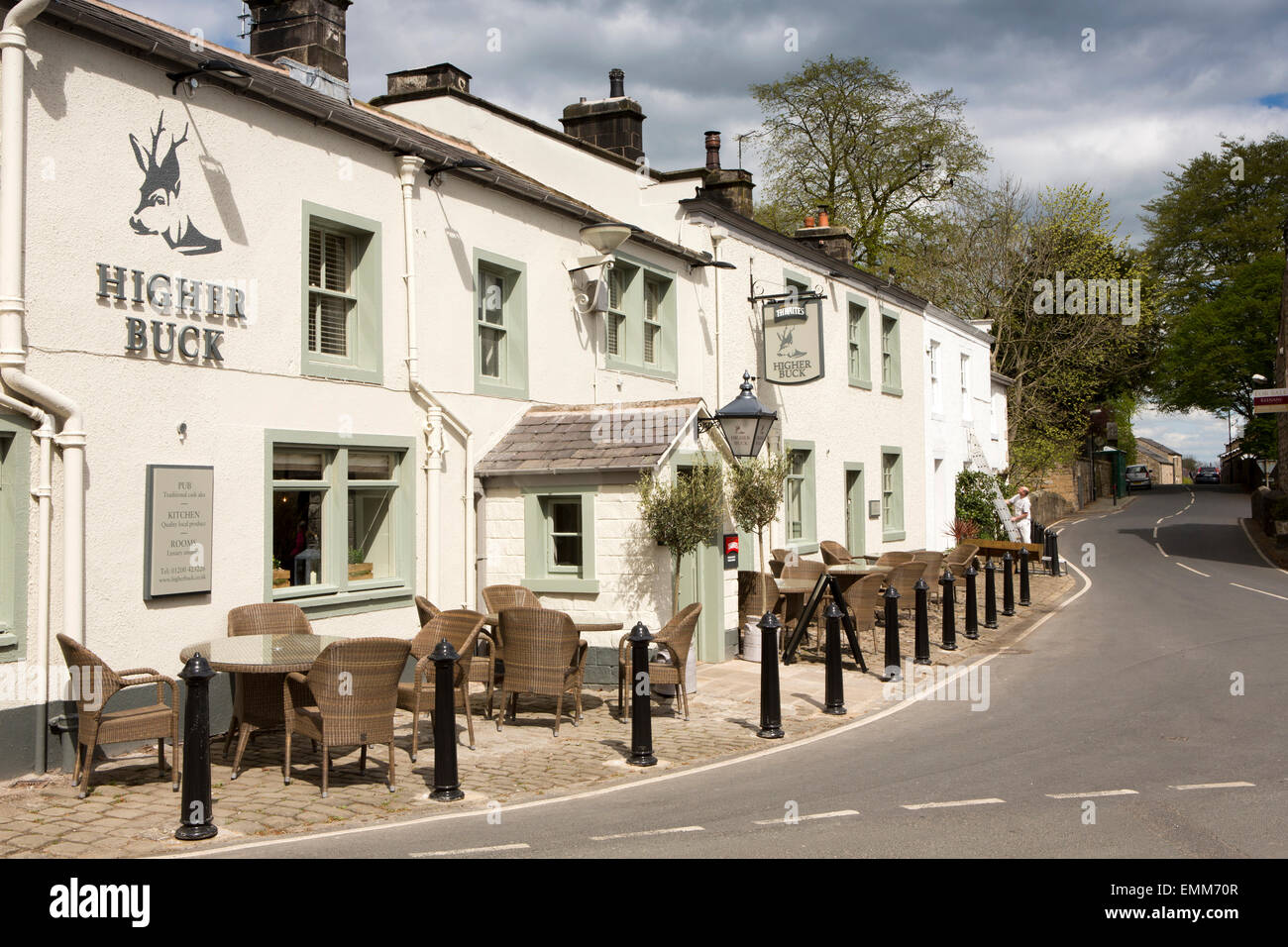 UK, England, Lancashire, Ribble Valley, Waddington, Higher Buck pub - Stock Image