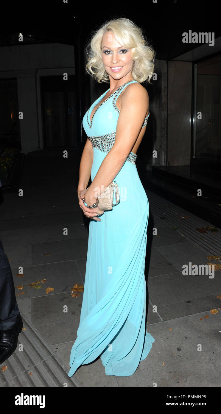 03.OCTOBER.2011. LONDON  KRISTINA RIHANOFF ATTENDING THE PRIDE OF BRITAIN AWARDS AT THE GROSVENOR HOUSE HOTEL IN - Stock Image