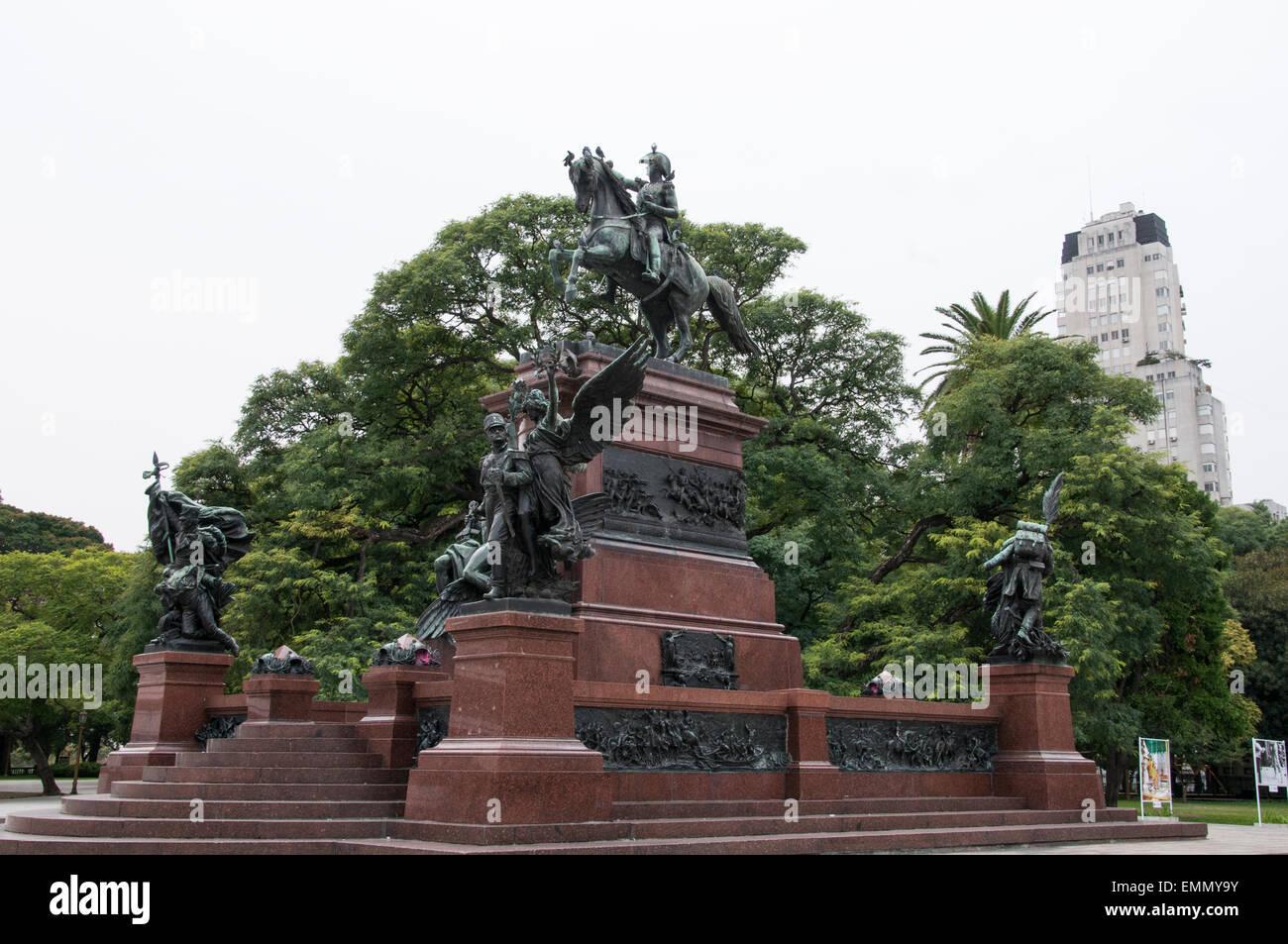 Plaza Libertador General San Martin, Buenos Aires, Argentina - Stock Image