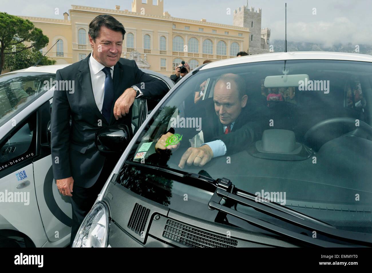 02.SEPTEMBER.2011. MONACO  PRINCE ALBERT II OF MONACO WITH CHRISTIAN ESTROSI, THE FRENCH DEPUTY MAYOR OF NICE, LAUNCH Stock Photo