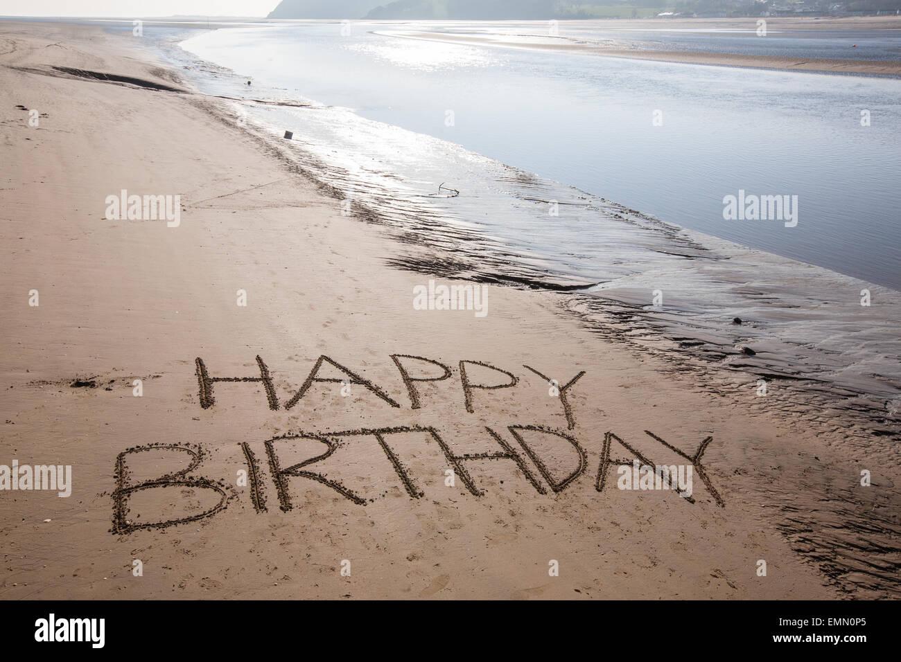 happy birthday graffiti card
