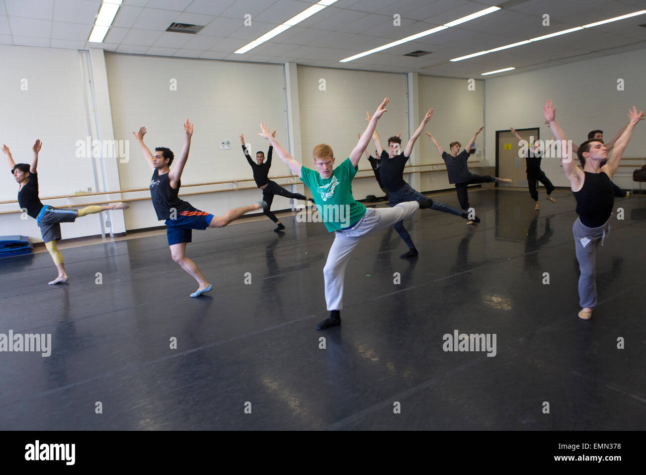 ballet dancers are training in Banff cultural center, Canada Stock Photo