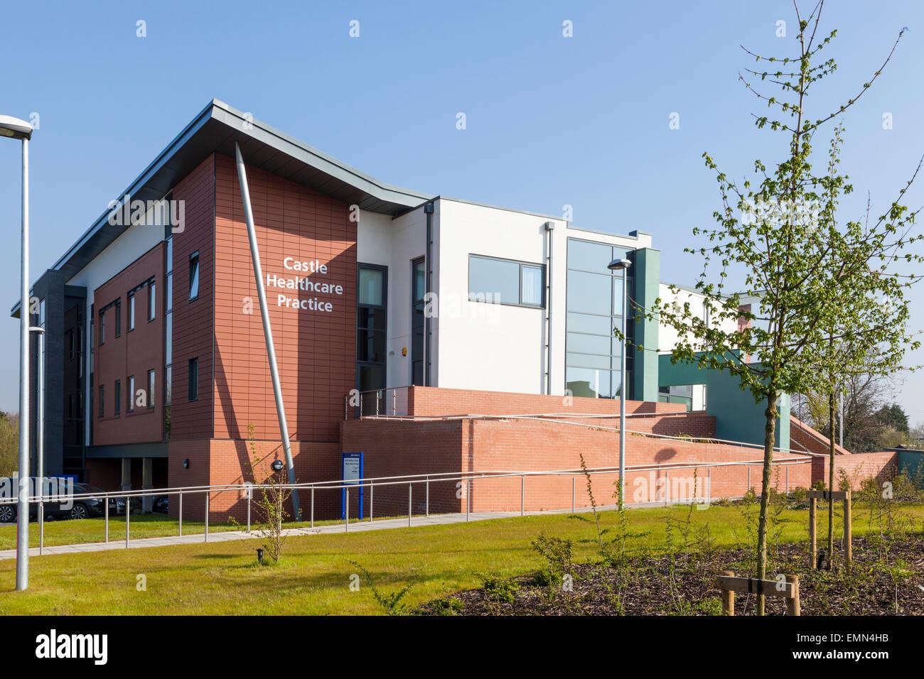 Castle Healthcare Practice at Embankment Primary Care, West Bridgford, Nottinghamshire, England, UK - Stock Image