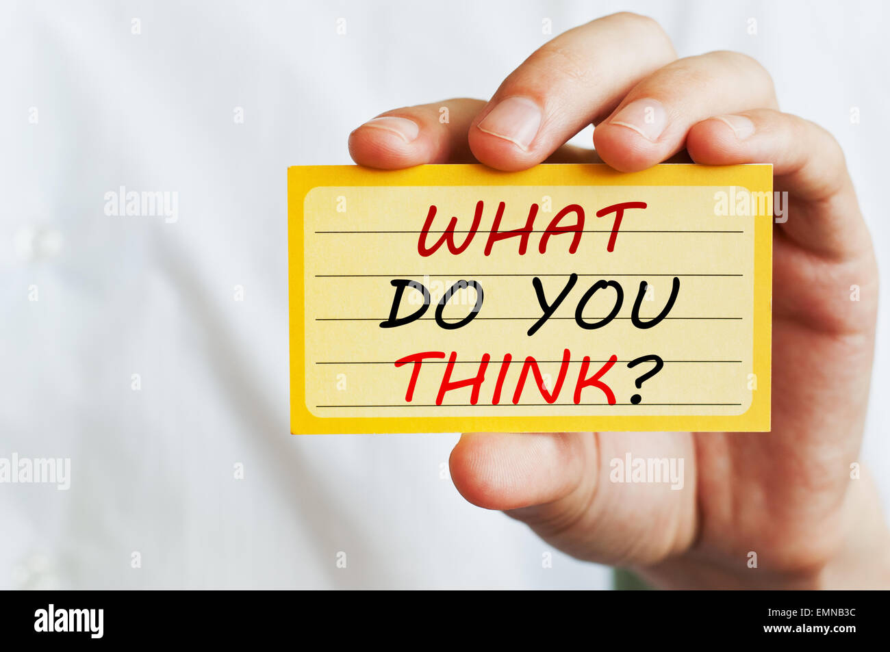 What Do You Think - Stock Image