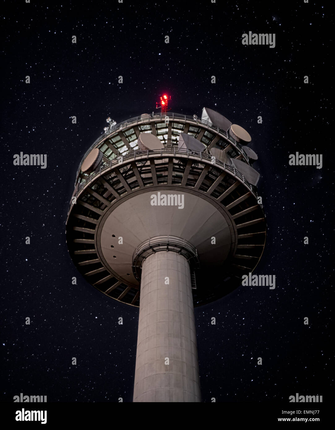 The lofty tower - Stock Image