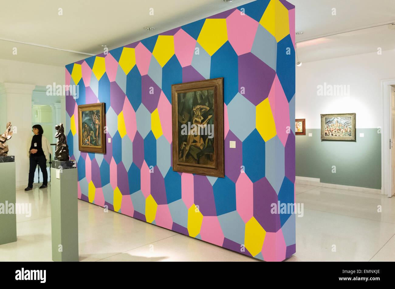 Czech Cubism. Moravian Gallery, modern art museum in Brno, Czech Republic - Stock Image