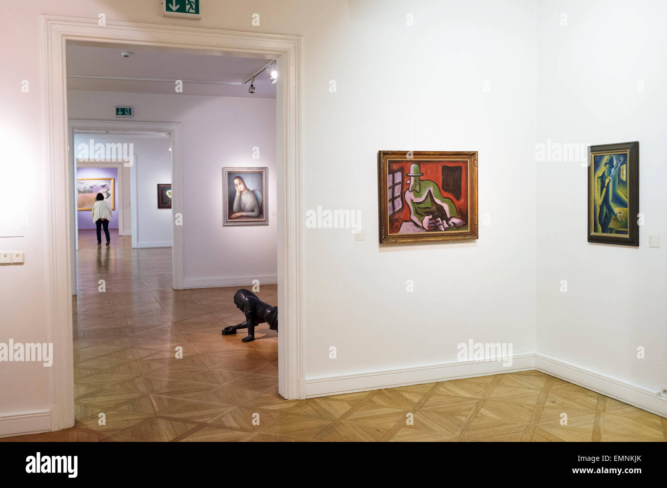 Paintings by Josef Capek at the Moravian Gallery, modern art museum in Brno, Czech Republic - Stock Image
