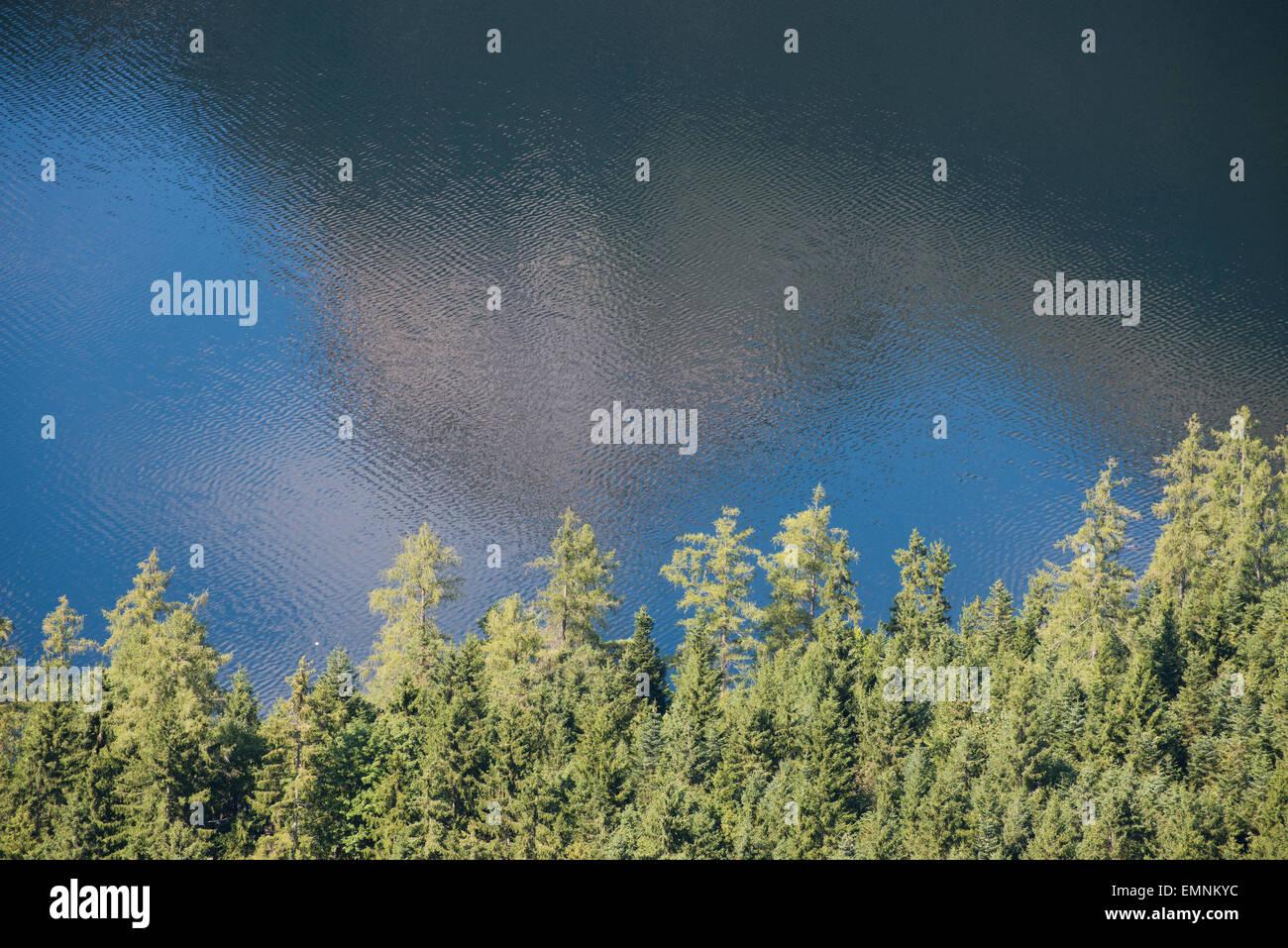 Reflexion vom Loser im Altausseer See fotografiert vom Tressensattel, Altaussee, Steiermark, Salzkammergut, Österreich - Stock Image