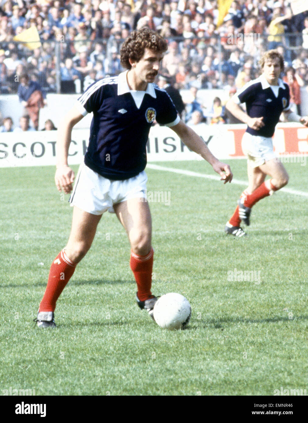 Scotland's Graeme Souness seen here in action against England. 20th May 1978 - Stock Image
