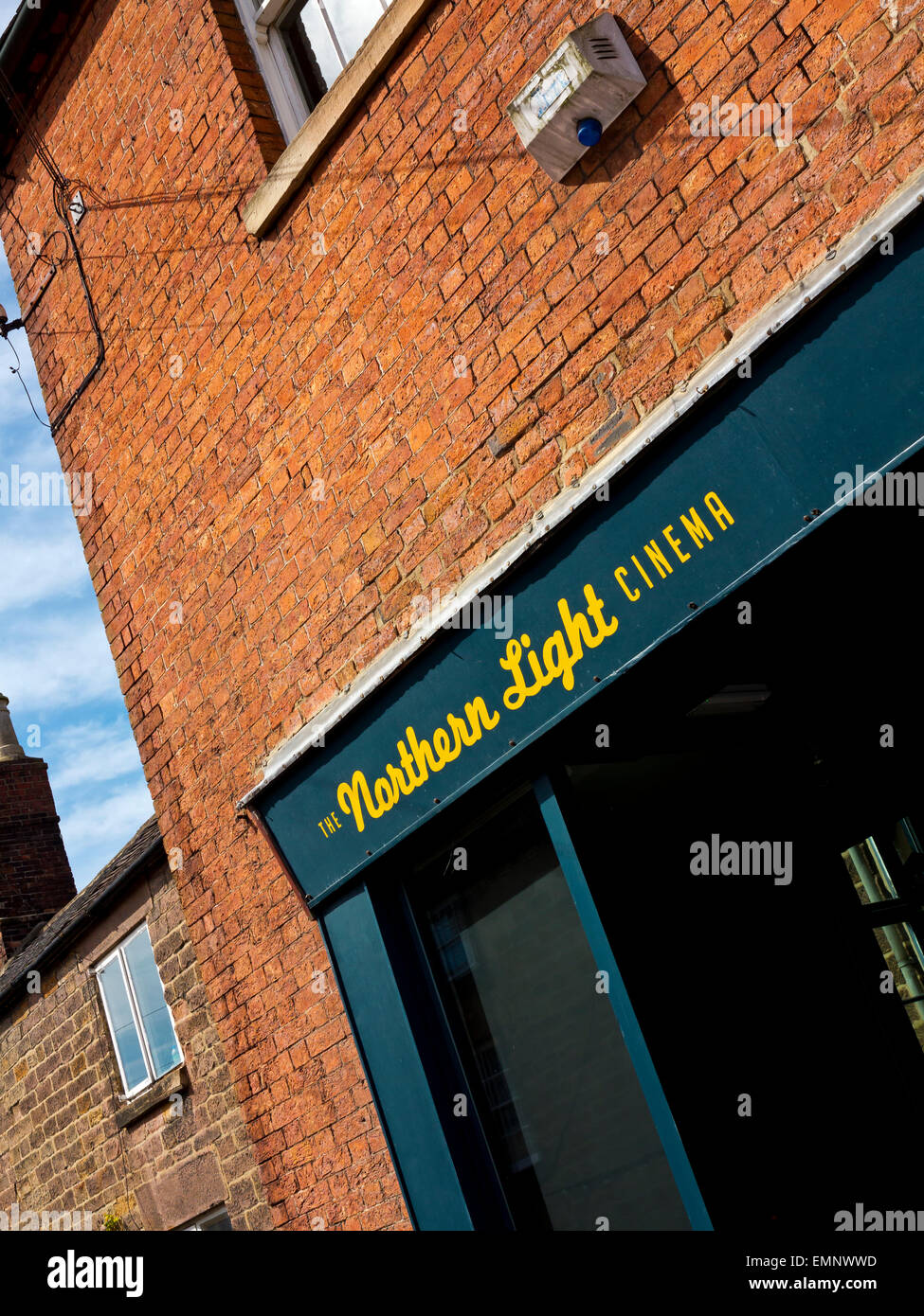 Exterior of the Northern Light Cinema a small independent cinema in Wirksworth in the Derbyshire Dales Peak District - Stock Image