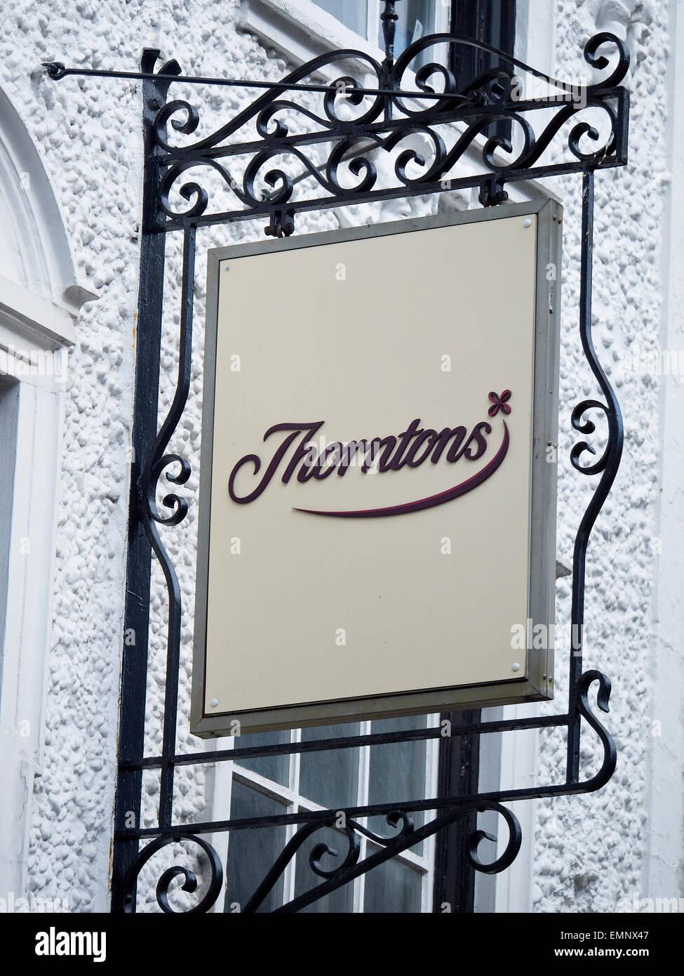 Thorntons shop sign UK - Stock Image