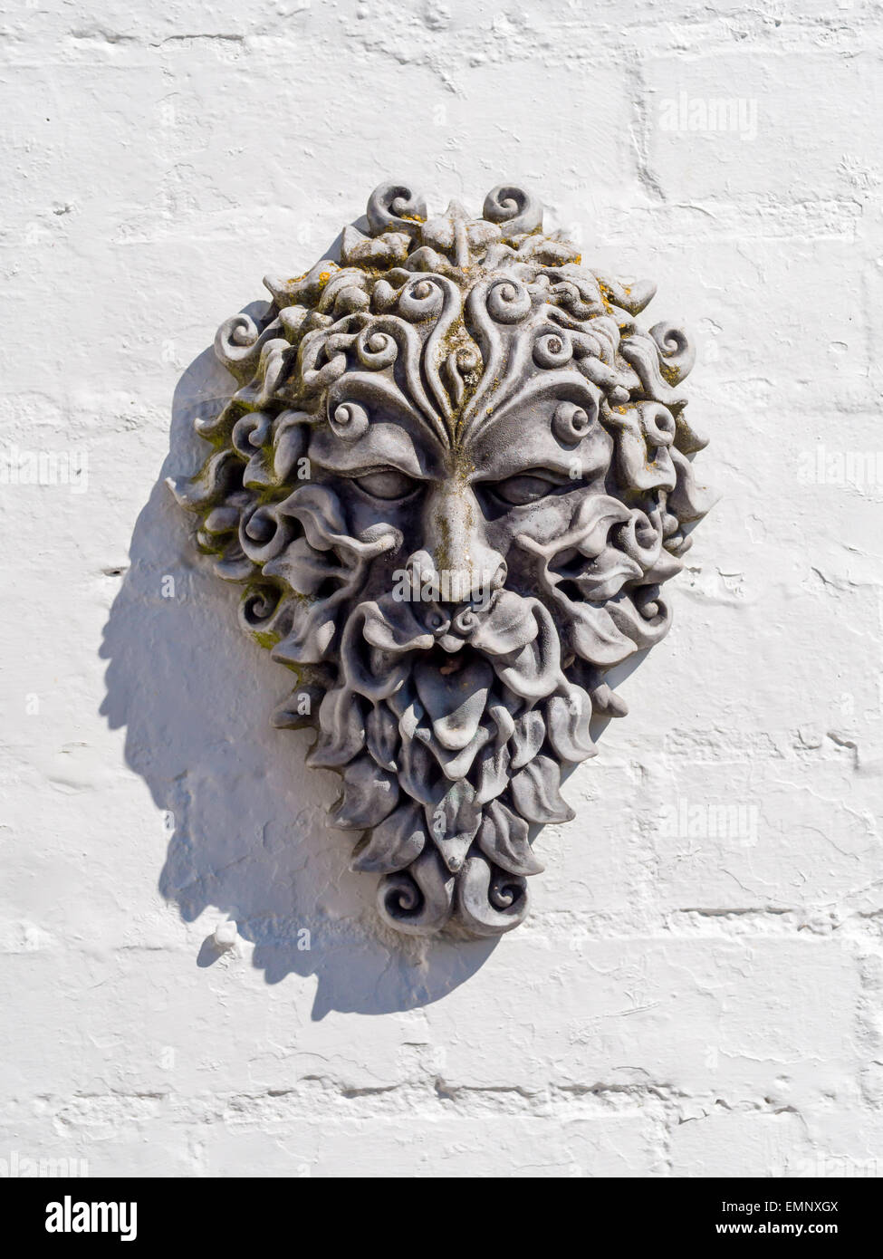 Green Man Head Sculpture Garden Ornament Sun Sunshine