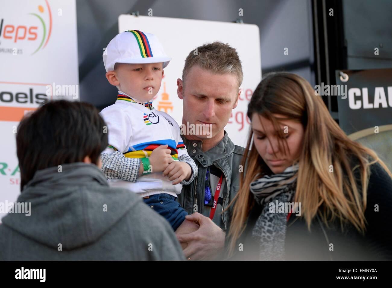 Wallonia, Belgium. 22nd Apr, 2015. La Flèche Wallonne UCI cycling tour race. Claudy Criquielion Famille © Action Stock Photo