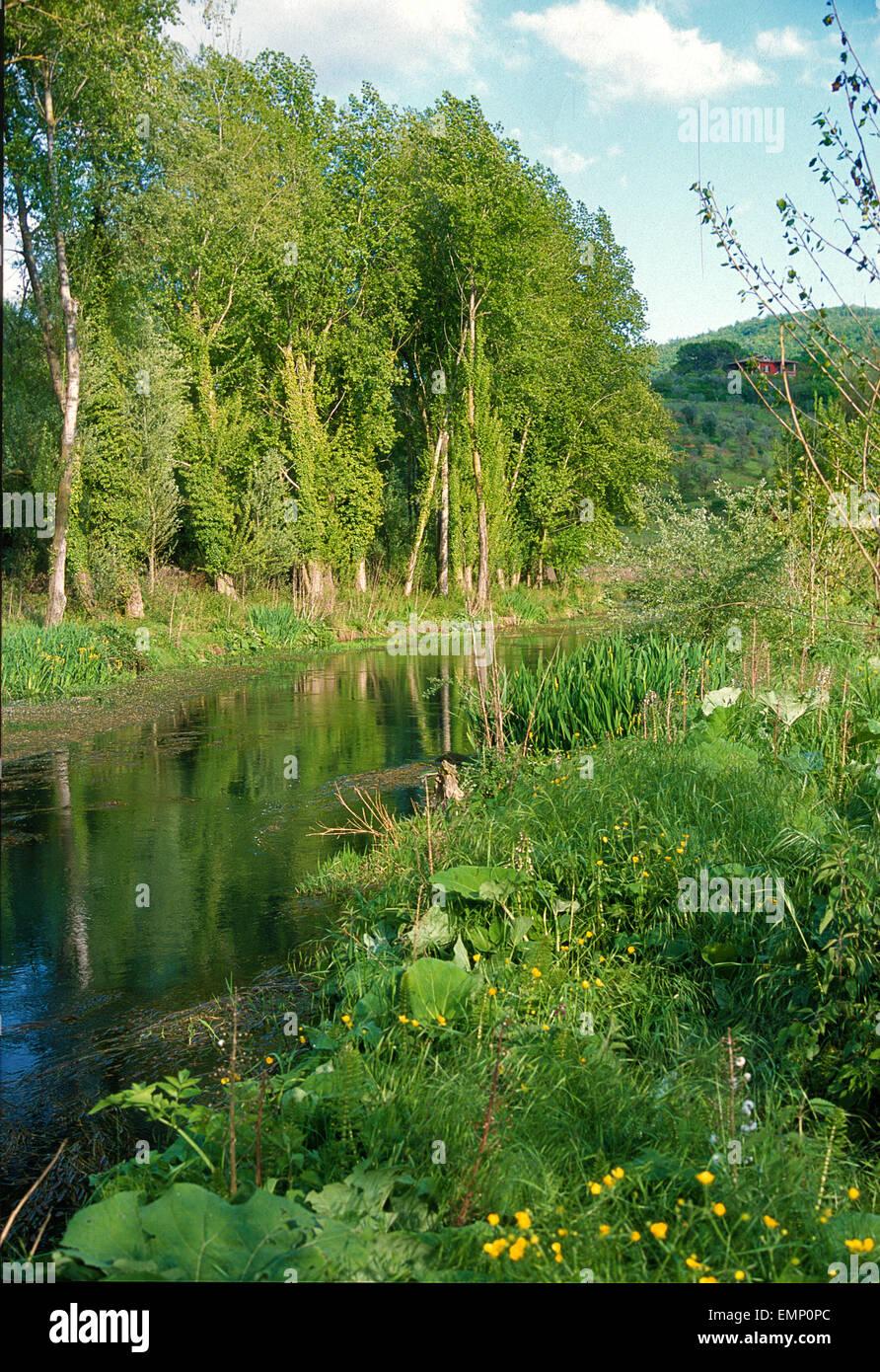 Posta Fibreno River, Frosinone, Lazio, Italìy, Europe - Stock Image