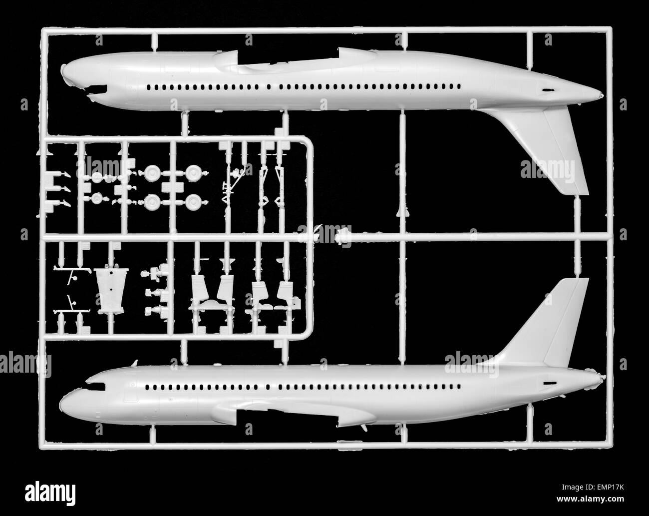 Symbolic image,  aerospace industry, aircraft, plastic model assembly kit, a passenger aircraft, Airbus A320 - Stock Image