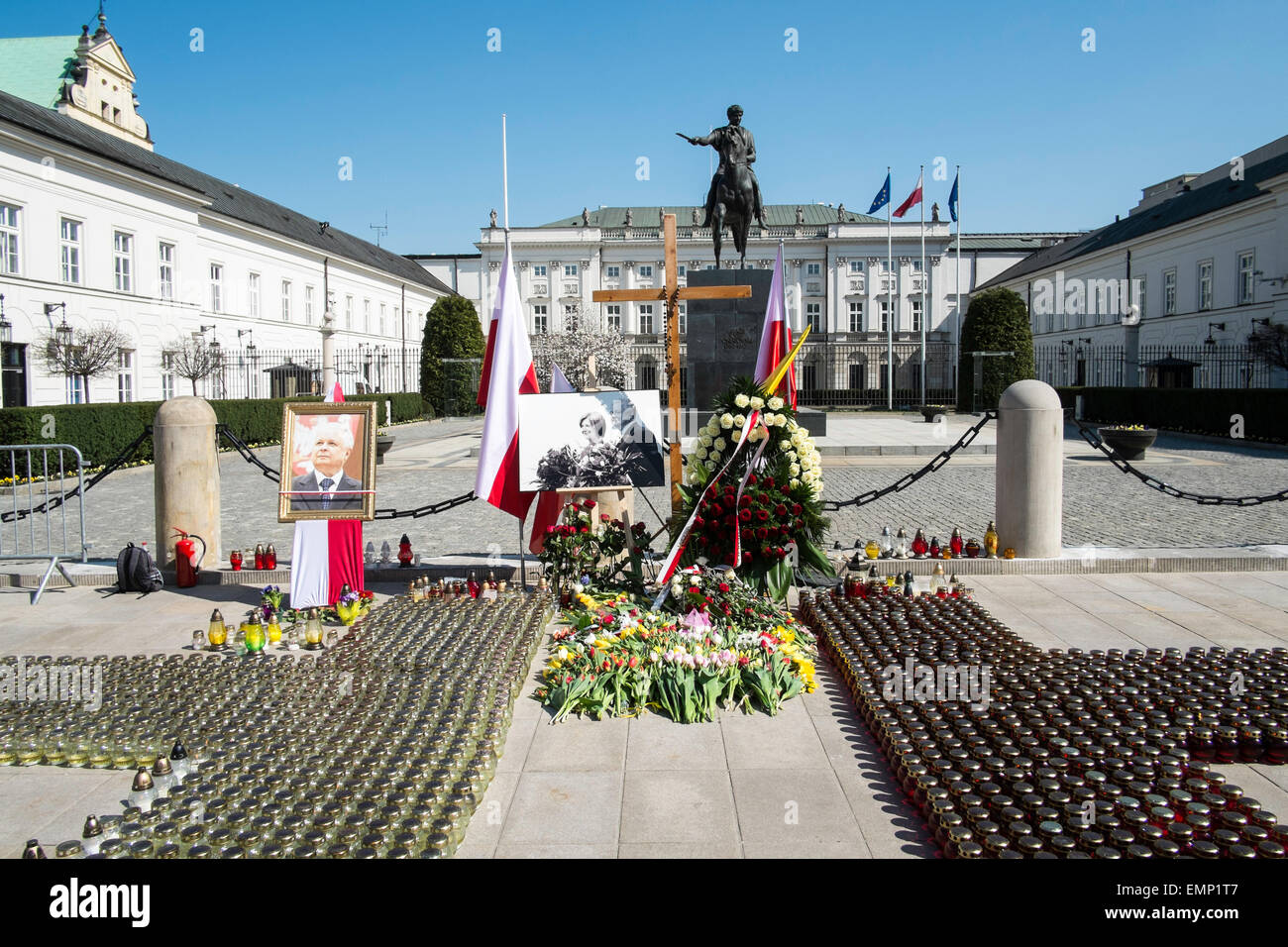 Poland politics society history Smolensk disaster - Stock Image