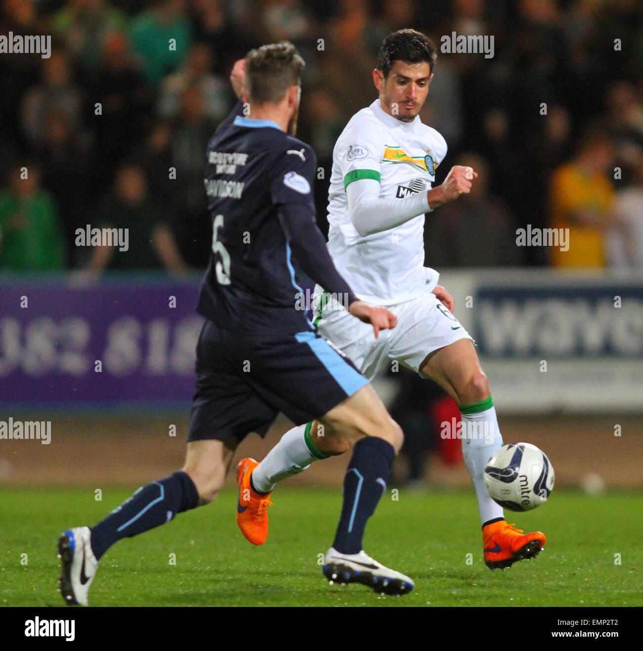 Dundee, Scotland. 22nd Apr, 2015. Scottish Premiership. Dundee versus Celtic. Nir Bitton and Iain Davidson Credit: - Stock Image