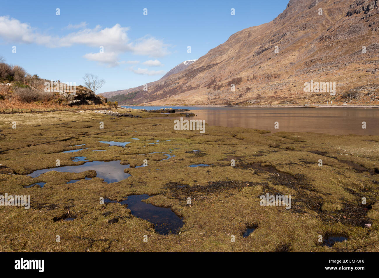 Scenic view of the mountains around Loch Torridon, Wester Ross, Scotland UK - Stock Image