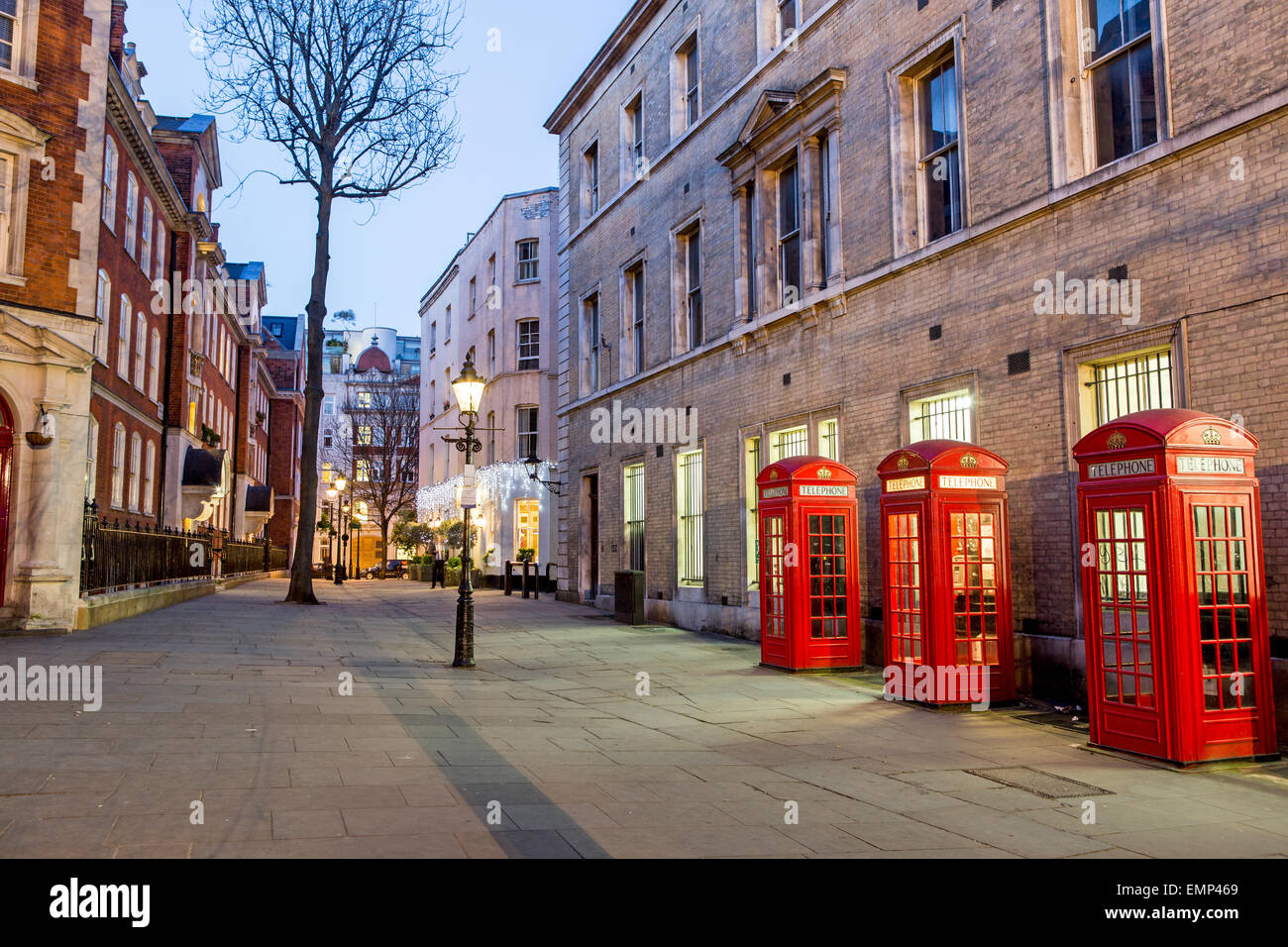 Martlett Court off  Bow Street at Night London UK - Stock Image