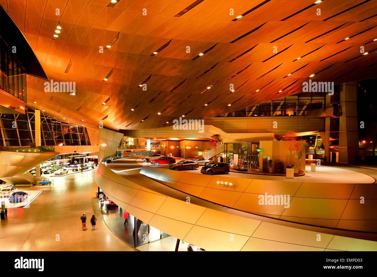 Exhibition in the BMW Welt, Munich, Upper Bavaria, Bavaria, Germany - Stock Image