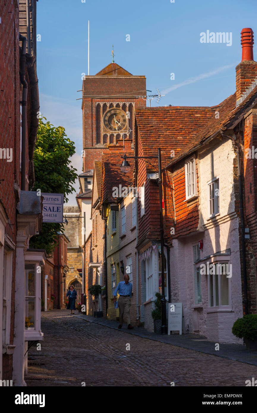 Street in Petworth west sussex - Stock Image