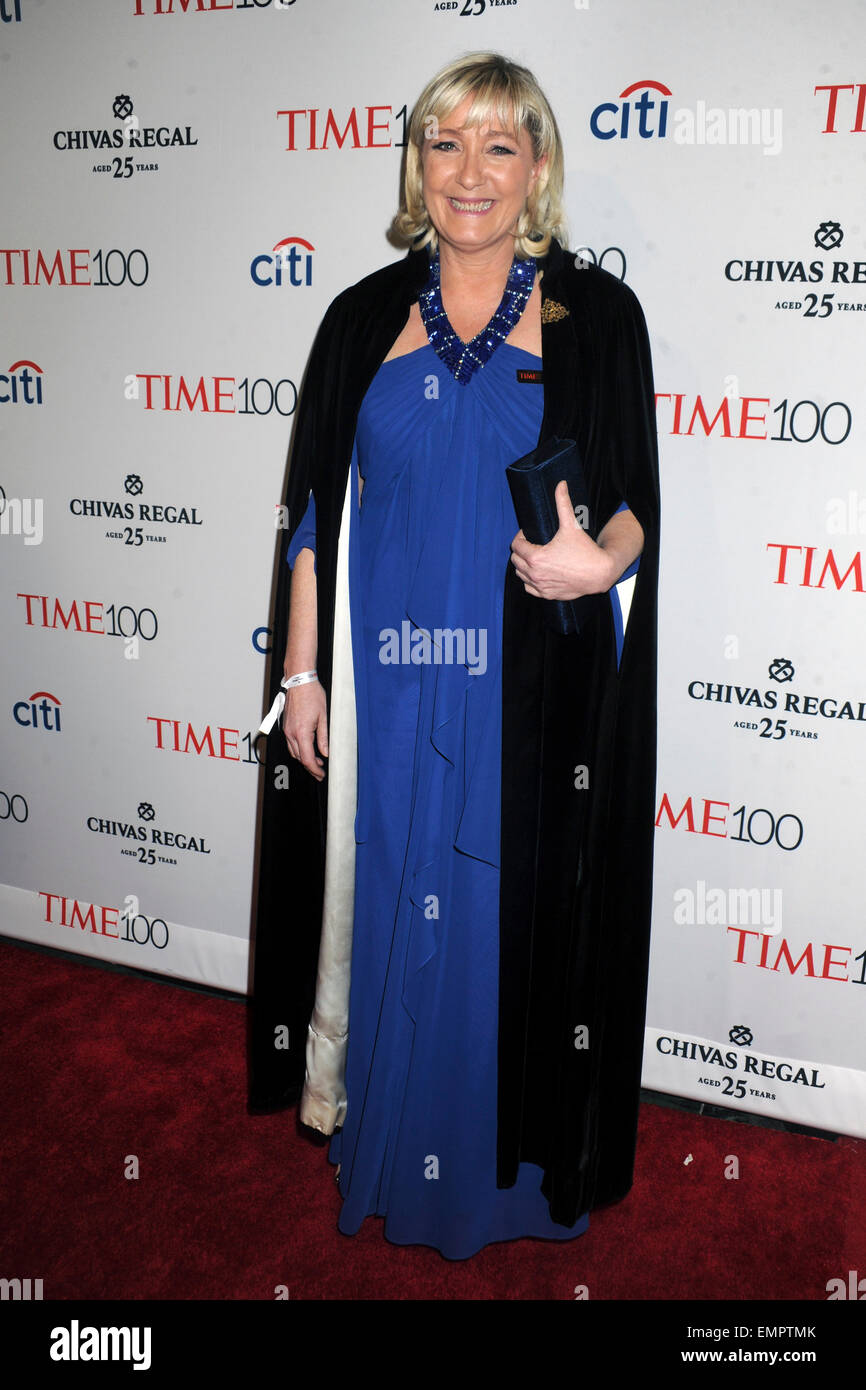 Marine Le Pen attending the TIME 100 Gala, TIME's 100 Most Influential People In The World at Jazz at Lincoln Center Stock Photo